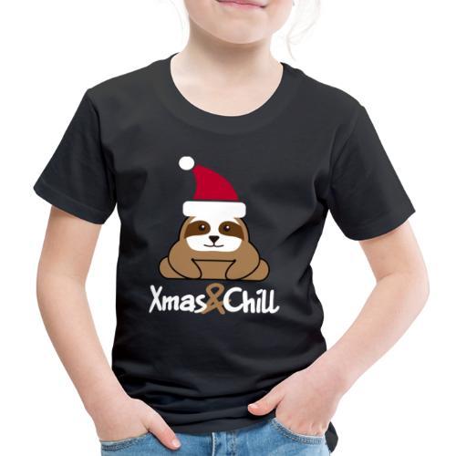 Faultier Weihnachten süß lustig Geschenk - Kinder Premium T-Shirt