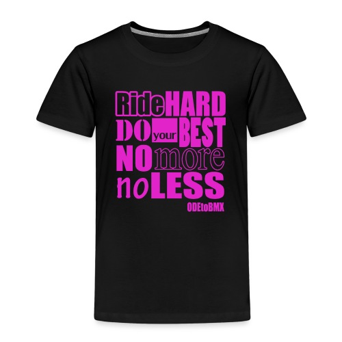RideHard pink - Lasten premium t-paita