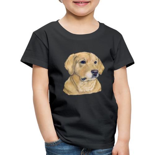 labrador yellow - pastel - Børne premium T-shirt