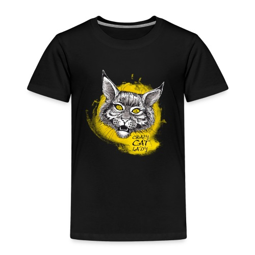 crazy cat lady - Kinder Premium T-Shirt