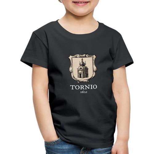 Tornio 1621 valkoinen teksti - Lasten premium t-paita
