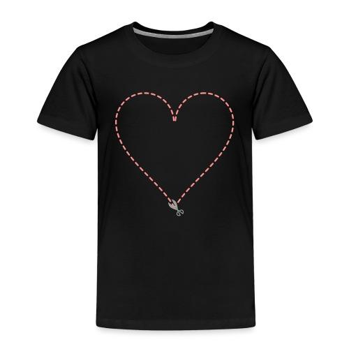 Coeur à découper - T-shirt Premium Enfant