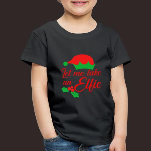 Weihnachten | Elf Mütze Weihnachtself Wortspiel - Kinder Premium T-Shirt