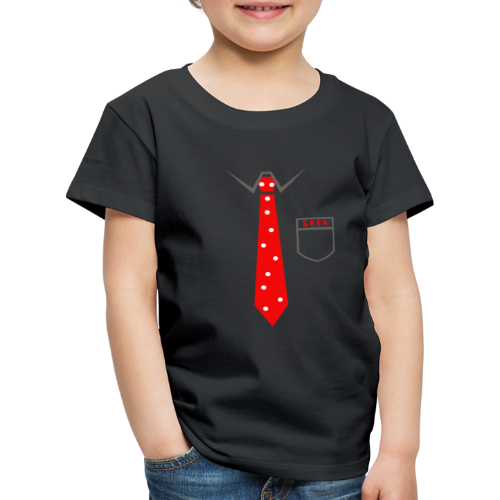 Geek   Schlips Krawatte Wissenschaft Streber - Kinder Premium T-Shirt