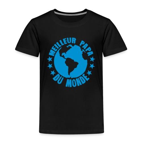 meilleur papa du monde terre planete - T-shirt Premium Enfant