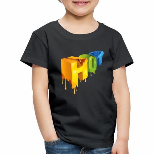 Hot lettering - Camiseta premium niño