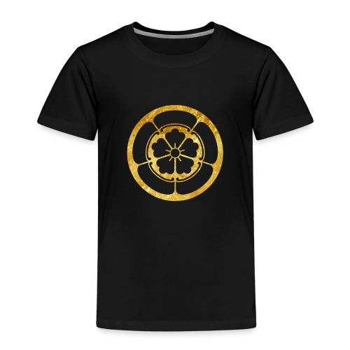 Oda Mon Japanese samurai clan in gold - Kids' Premium T-Shirt