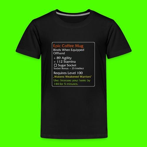 Epic Coffe Mug png - Børne premium T-shirt