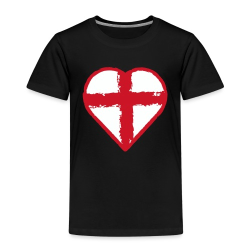 Heart St George England flag - Kids' Premium T-Shirt