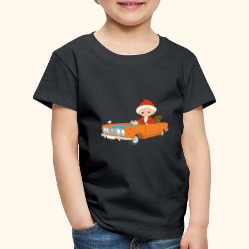 Sandmann fährt Auto - Kinder Premium T-Shirt