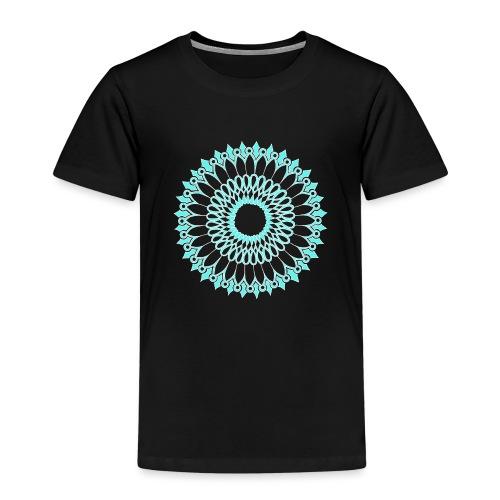 Ice Sunflower Mandala - Kids' Premium T-Shirt