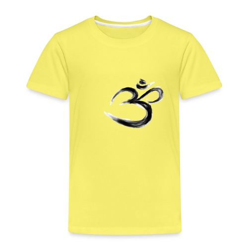 Black OM - Premium-T-shirt barn