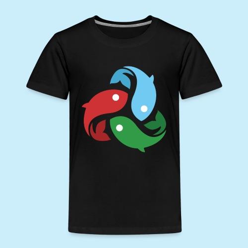 De fiskede fisk - Børne premium T-shirt
