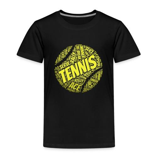 Tennisball Typo-Style - Kinder Premium T-Shirt
