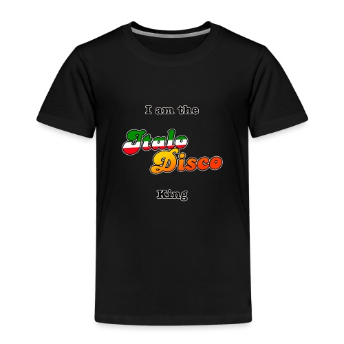i am the italo disco king - Premium T-skjorte for barn
