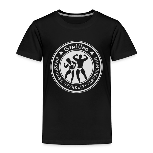 Gym1Uno_circle_Neg(ForDar - Premium-T-shirt barn