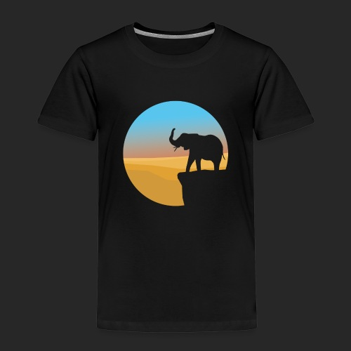 Sunset Elephant - Kids' Premium T-Shirt