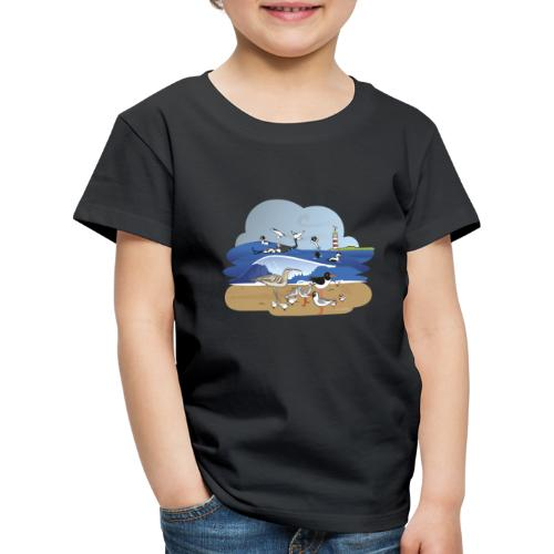 See... birds on the shore - Kids' Premium T-Shirt