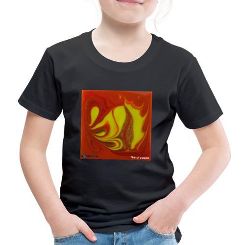 TIAN GREEN Mosaik DK011 - Fire of passion - Kinder Premium T-Shirt