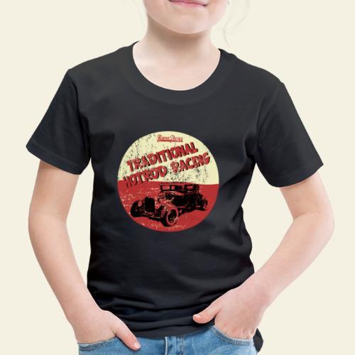 hotrod racing logo - Børne premium T-shirt
