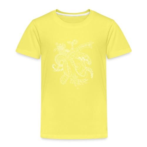 Fantasy hvid scribblesirii - Børne premium T-shirt