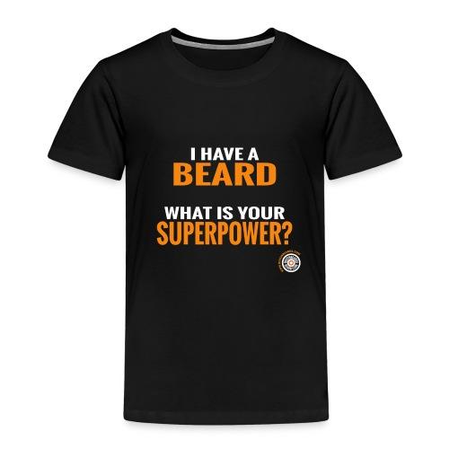 Beard Superpower - Kinderen Premium T-shirt