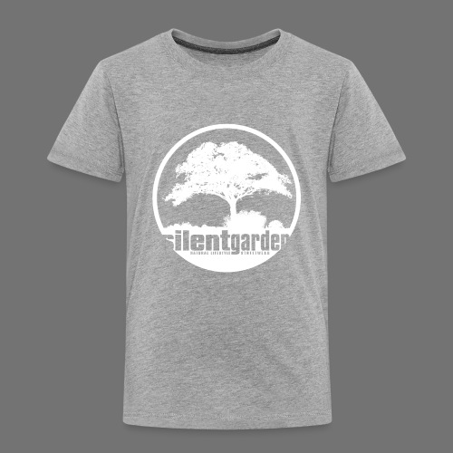 hiljainen puutarha (valkoinen) - Lasten premium t-paita