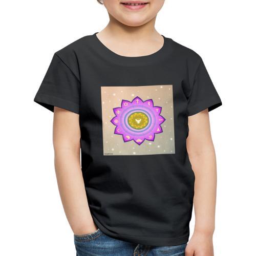 0 1 Dove Surrounded by Religious Symbols. - Kids' Premium T-Shirt