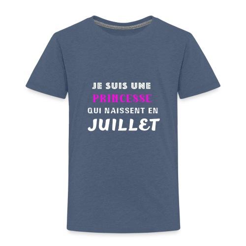 je suis une princesse qui naissent juillet - T-shirt Premium Enfant