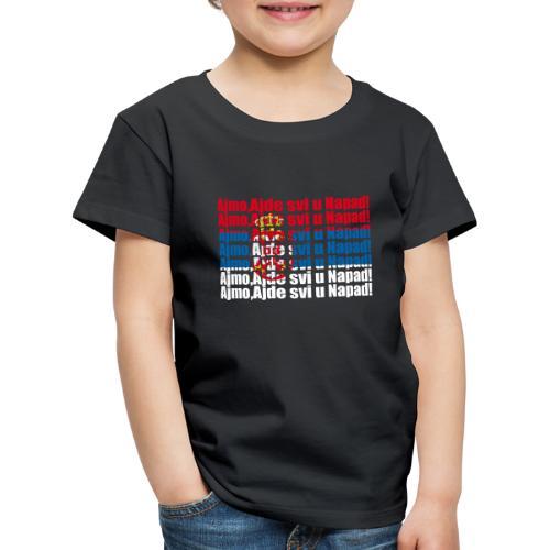 Hopp Serbien - Kinder Premium T-Shirt