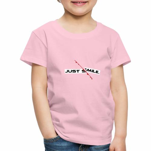 JUST SMILE Design mit blutigem Schnitt, Depression - Kinder Premium T-Shirt