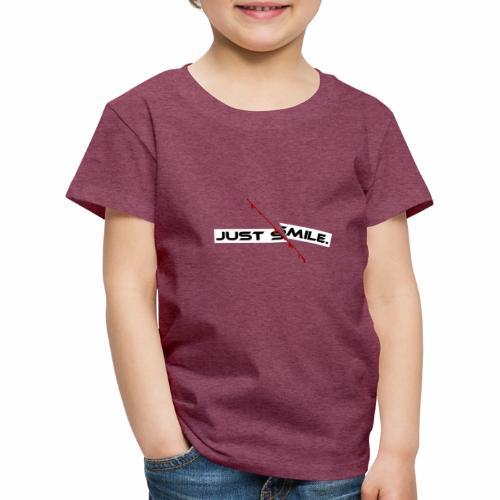 JUST SMILE Design mit blutigem Schnitt, Depression - Kinder Premium T-Shirt