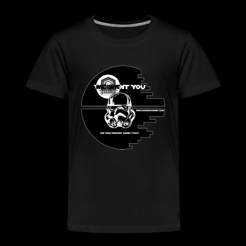 DarkSide Gaming We Want You Death Star Logo - Kids' Premium T-Shirt