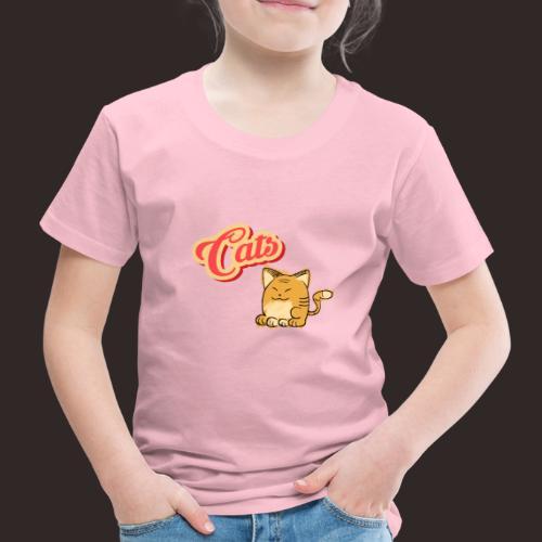 Katze | Katzen süß Schriftzug - Kinder Premium T-Shirt