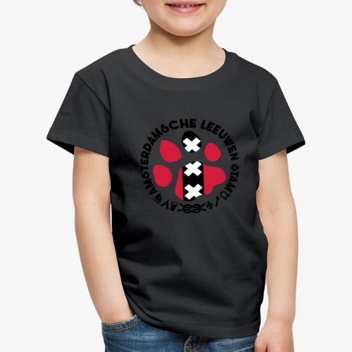 ALS witte cirkel lichtshi - Kinderen Premium T-shirt