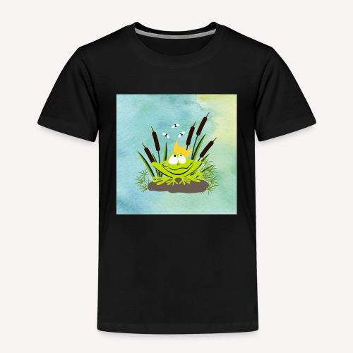 frog king watercolor - Kinder Premium T-Shirt