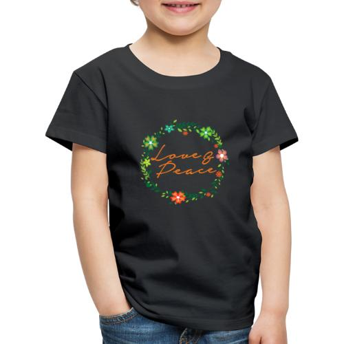 Love and Peace - Kids' Premium T-Shirt
