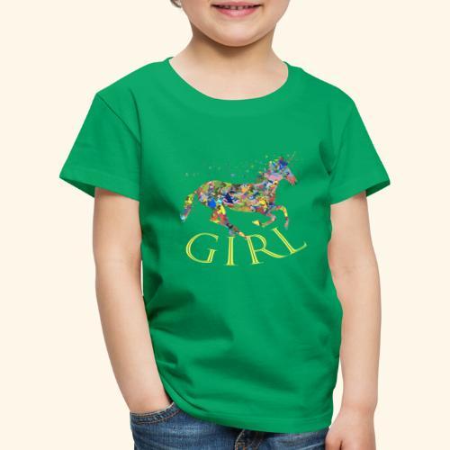 unicorn girl T-shirt - Maglietta Premium per bambini