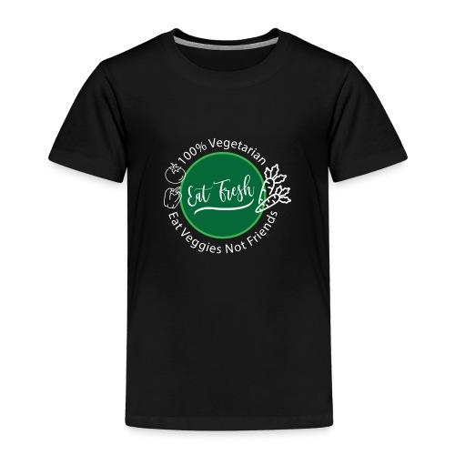 Gezond eten vegetarische t-shirt - Kinderen Premium T-shirt
