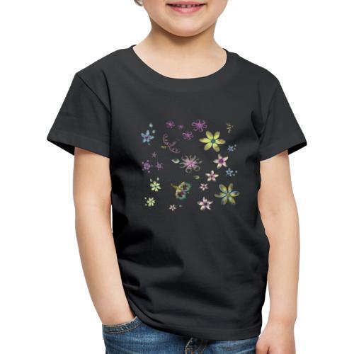 flowers and butterflies - Maglietta Premium per bambini