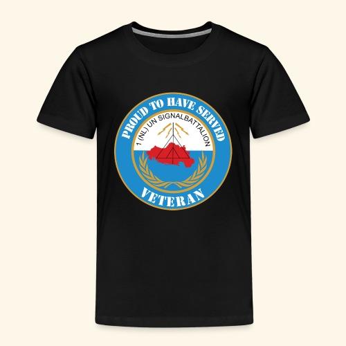 1 nl un signalbattalion veteraan - Kinderen Premium T-shirt