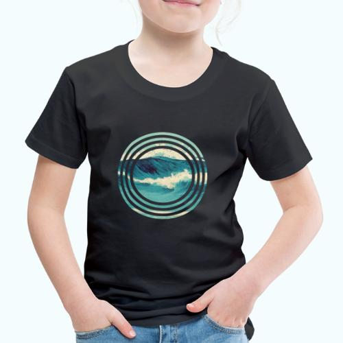 Wave vintage watercolor - Kids' Premium T-Shirt