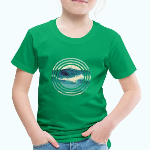 Wave vintage watercolor - Kids' Premium T-Shirt