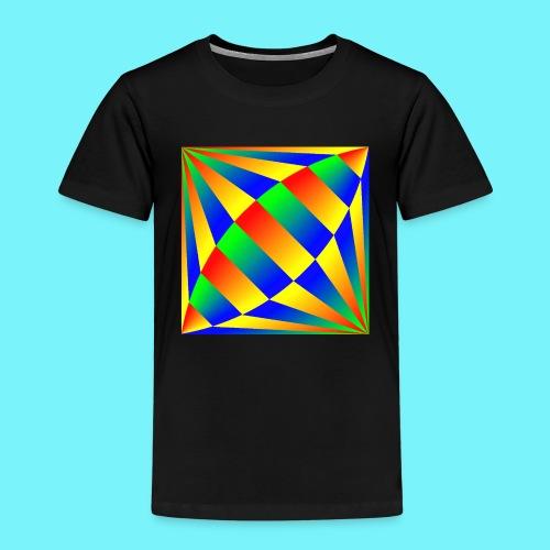Giant cufflink design in blue, green, red, yellow. - Kids' Premium T-Shirt