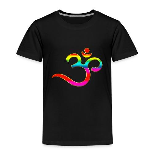 Om Mantra Symbol Yoga Regenbogen - Kinder Premium T-Shirt