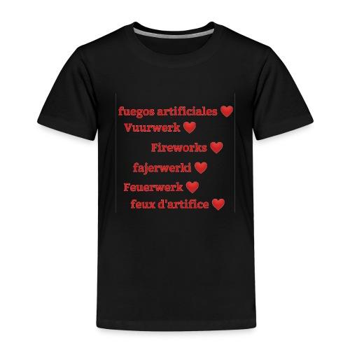 Vuurwerk in meerdere talen - Kinderen Premium T-shirt