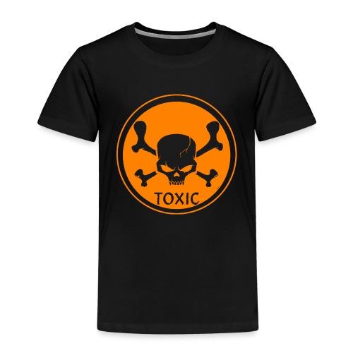 Skull Toxic Black & Orange - T-shirt Premium Enfant