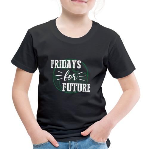 Fridays for Future -withe- - Kinder Premium T-Shirt