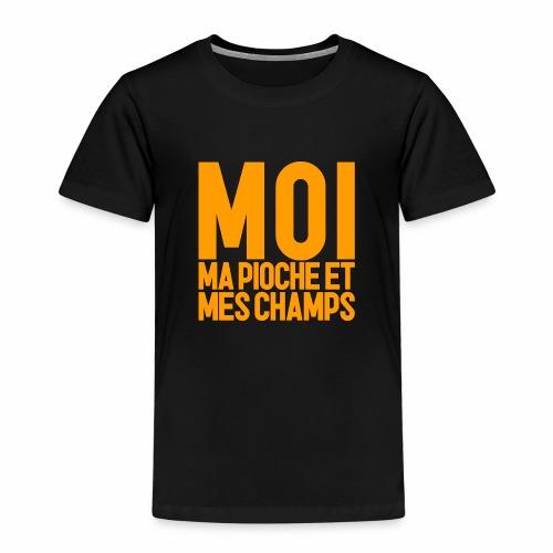 MOI, MA PIOCHE ET MES CHAMPS - AGRICULTEUR - T-shirt Premium Enfant