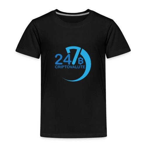 Criptovalute 247 Logo 2 - Maglietta Premium per bambini